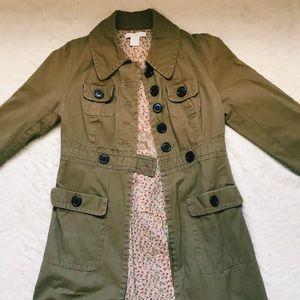 Tan trench coat